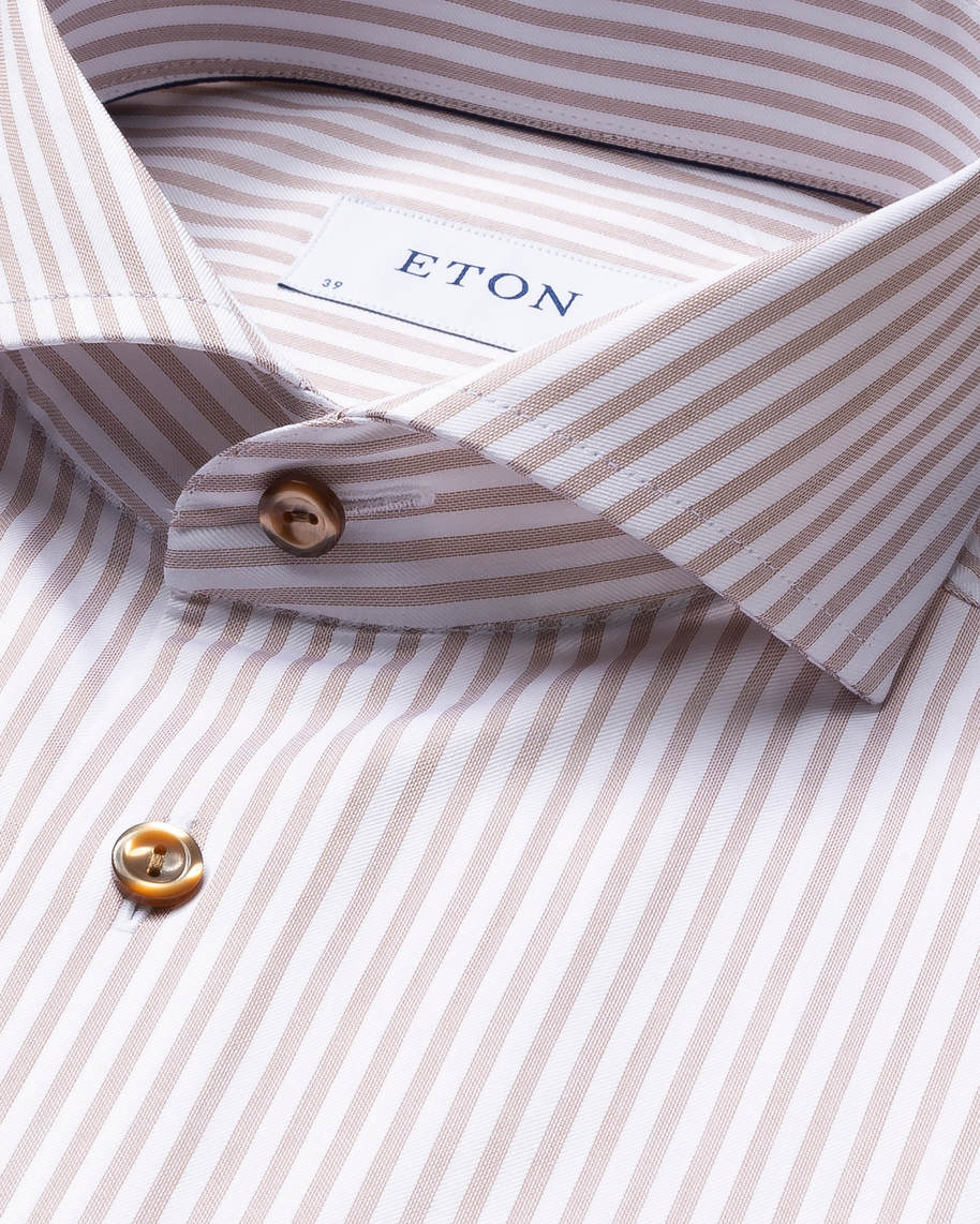 Brown Striped Signature Twill Shirt - image 5