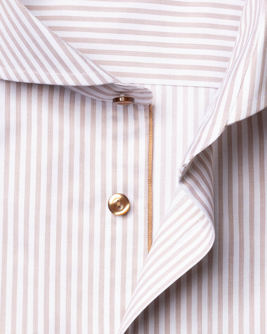 Brown Striped Signature Twill Shirt - image 3