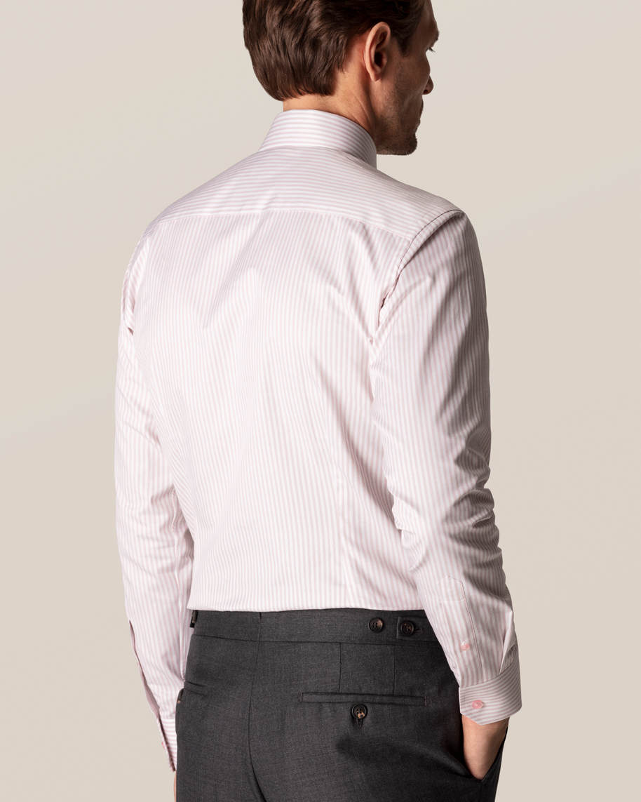 Pink Striped Signature Twill Shirt - image 8