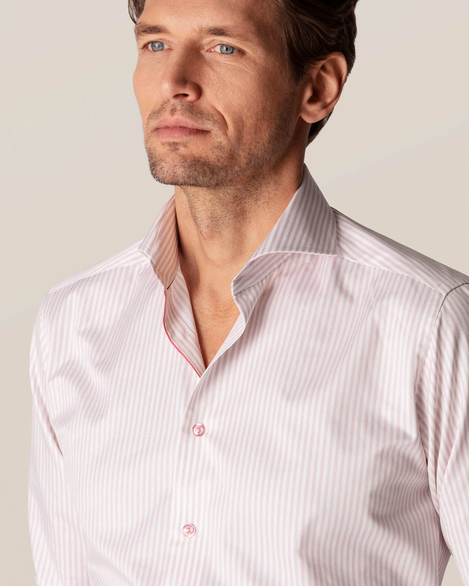 Pink Striped Signature Twill Shirt - image 9