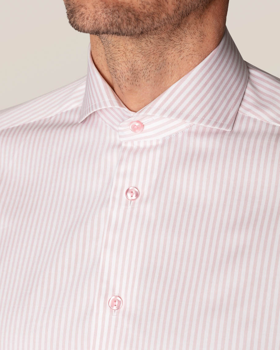Pink Striped Signature Twill Shirt - image 10