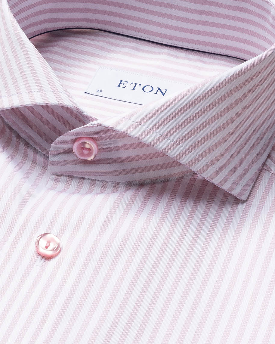 Pink Striped Signature Twill Shirt - image 5