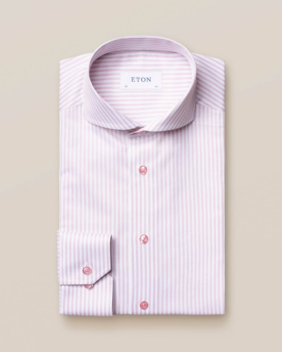 Pink Striped Signature Twill Shirt - image 2