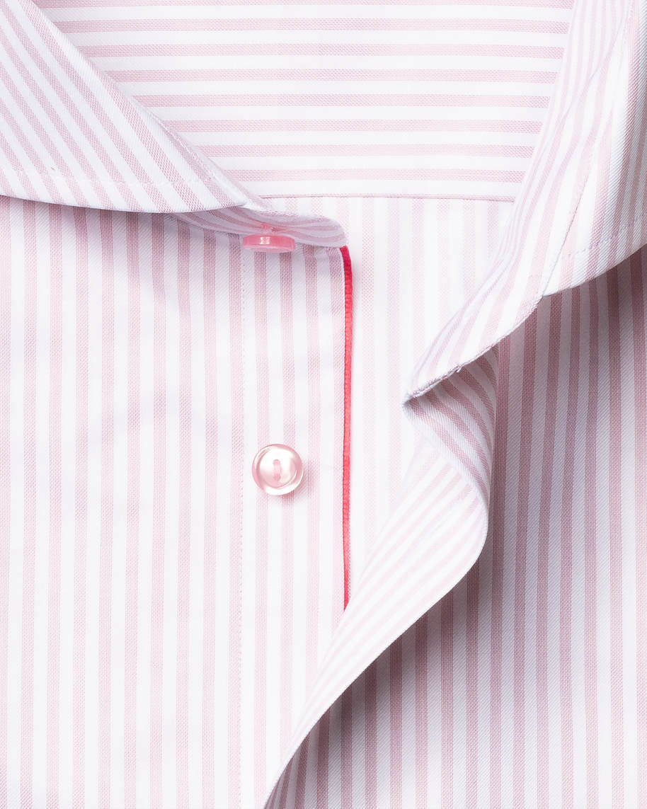 Pink Striped Signature Twill Shirt - image 3