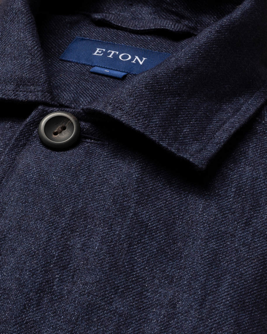 Blue Linen Overshirt