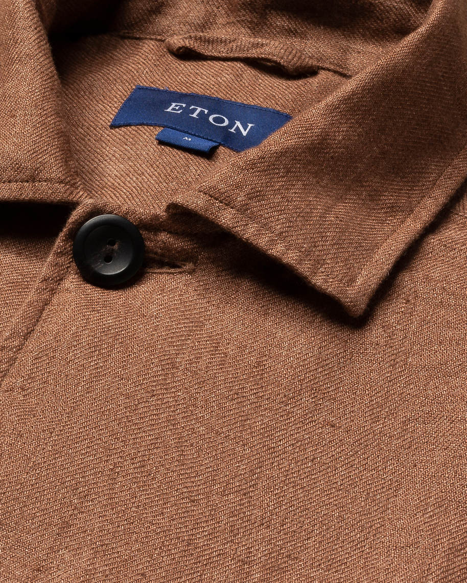 Brown Linen Overshirt