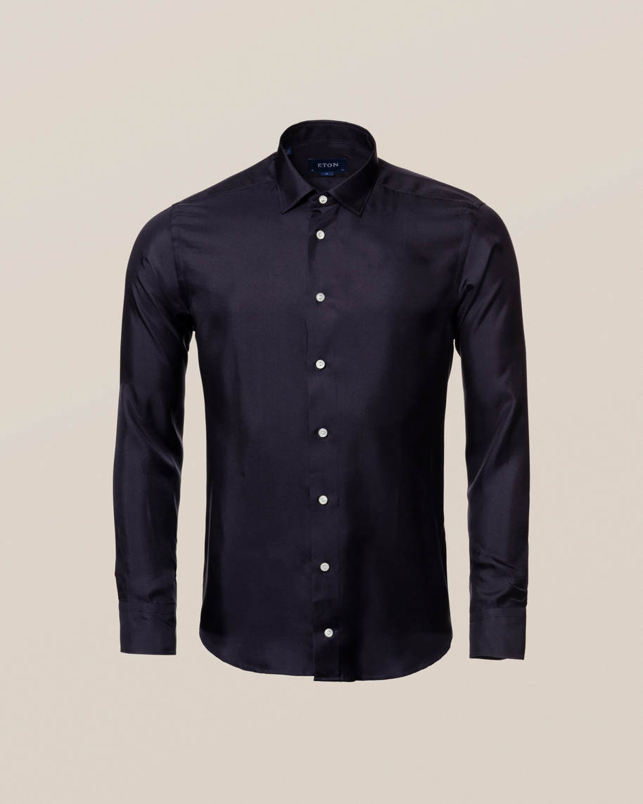 Blue Silk Shirt - image 10