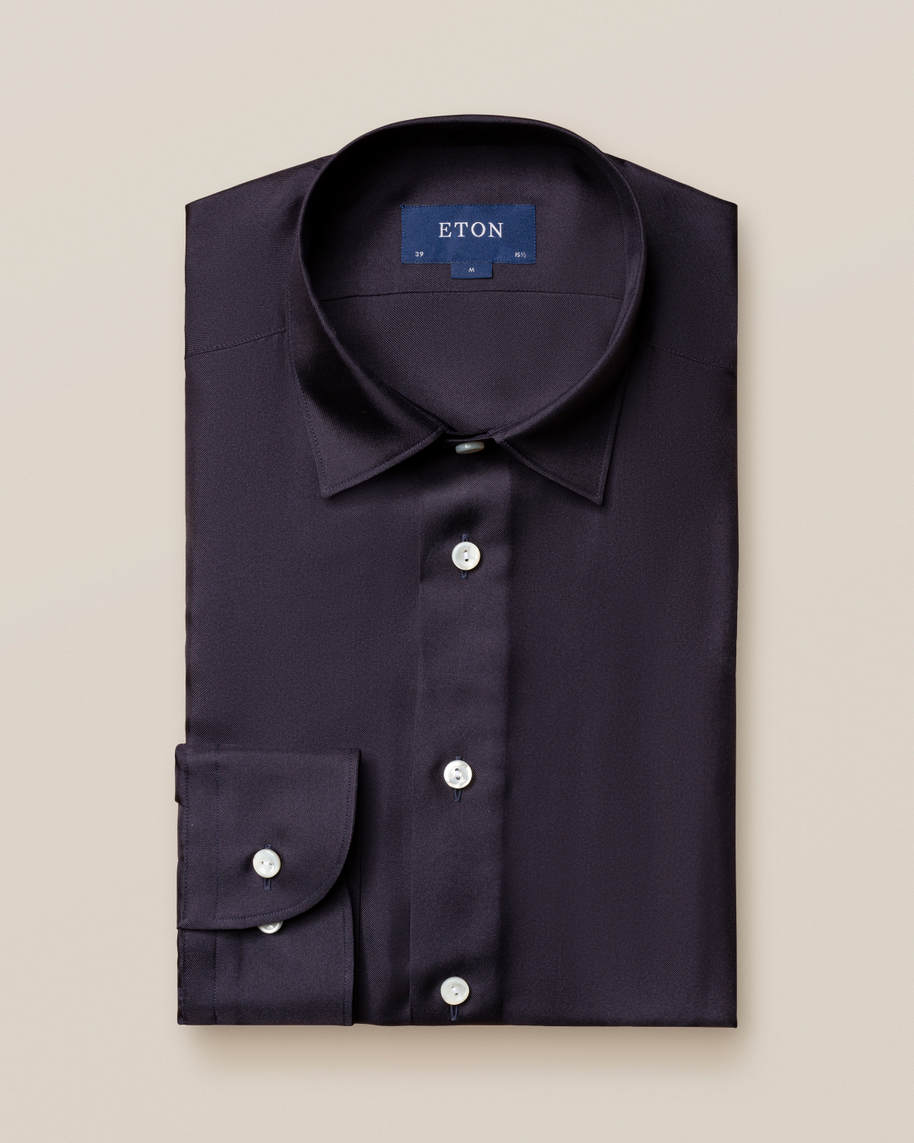 Blue Silk Shirt - image 2