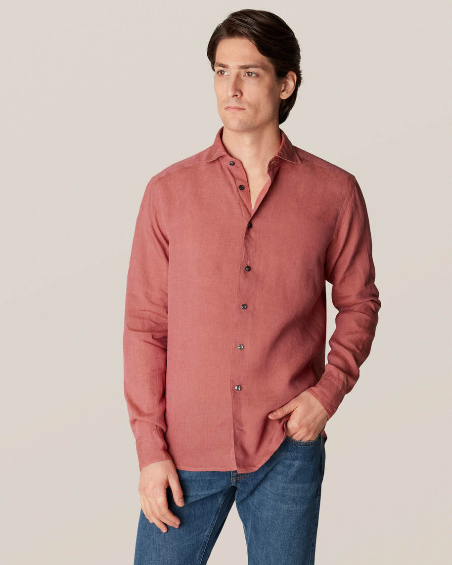 Red Linen Shirt - image 1