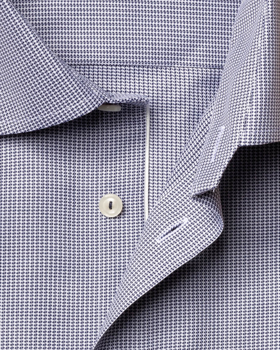 Blue Houndstooth Stretch Shirt - image 3