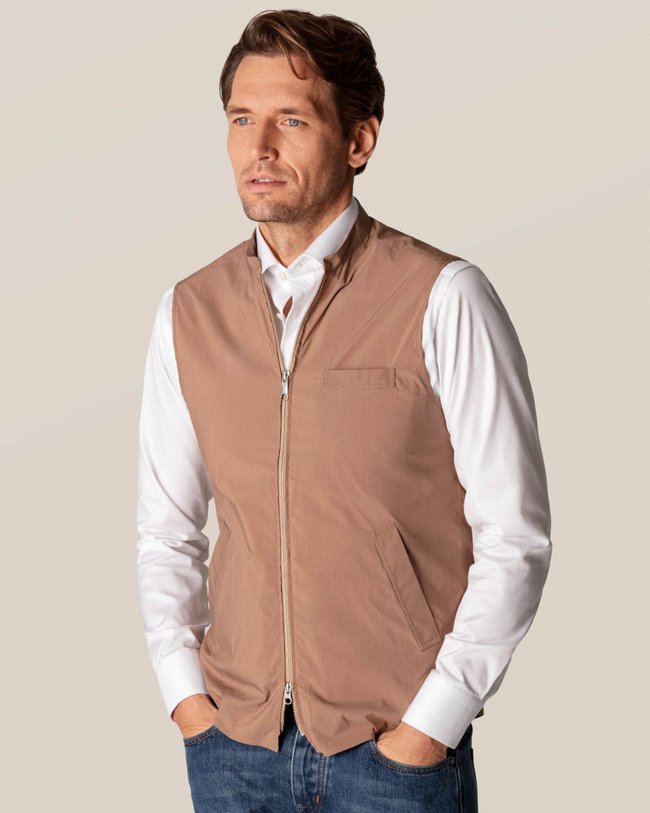 Brown Wind Vest