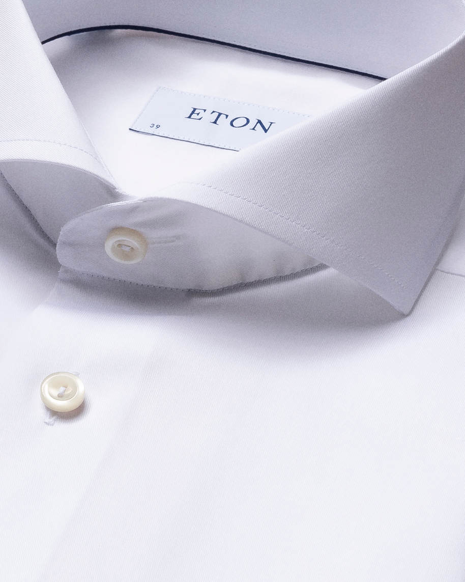White Fine Twill Shirt – Extreme Cut Away - image 2