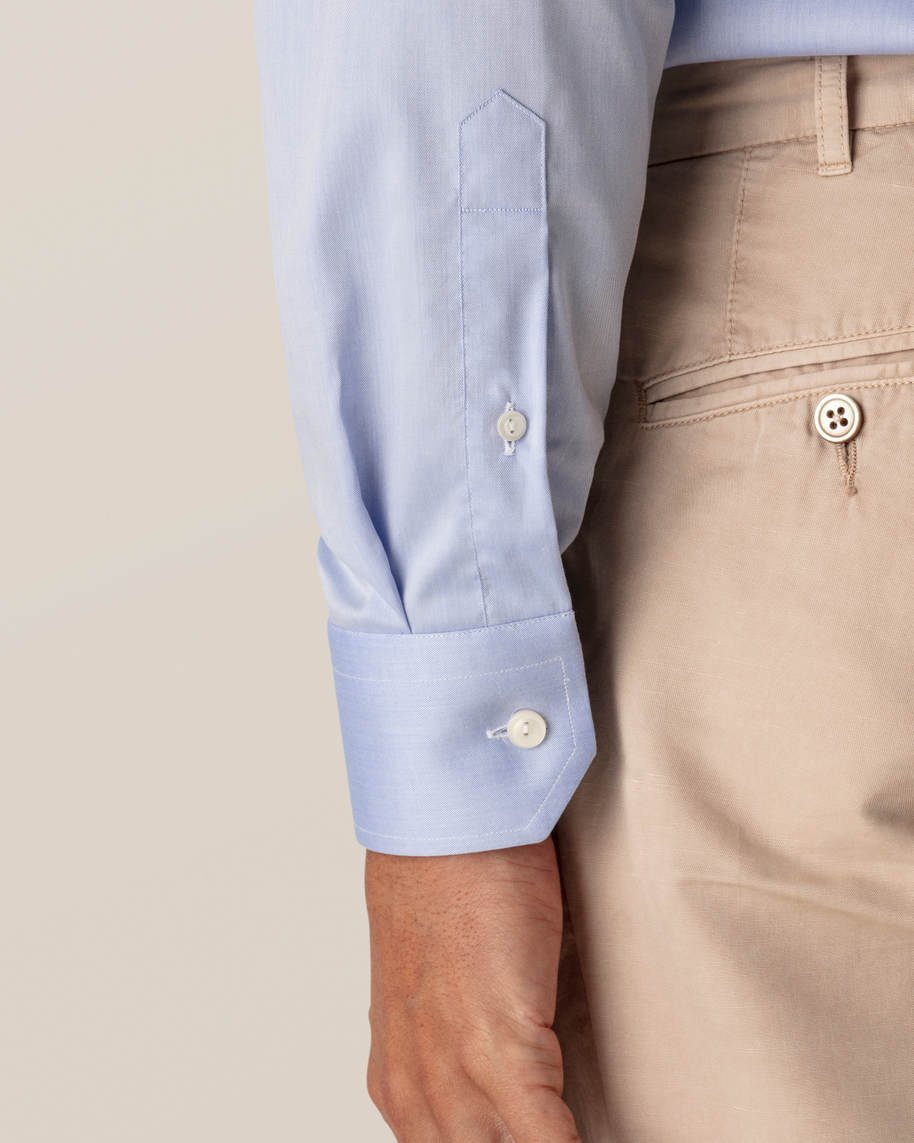 Blue Fine Twill Shirt – Extreme Cut Away - image 4