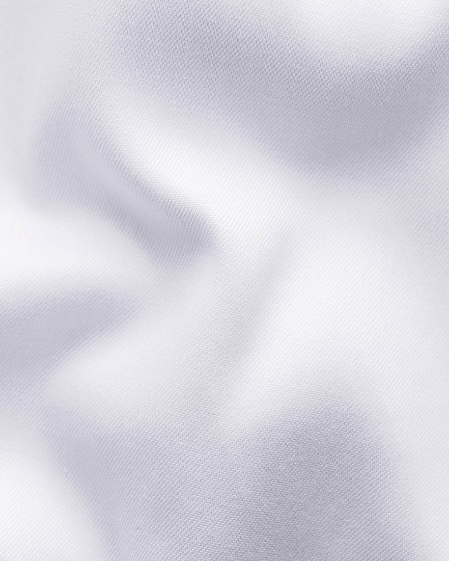 White Signature Twill Shirt – Printed Details - image 2