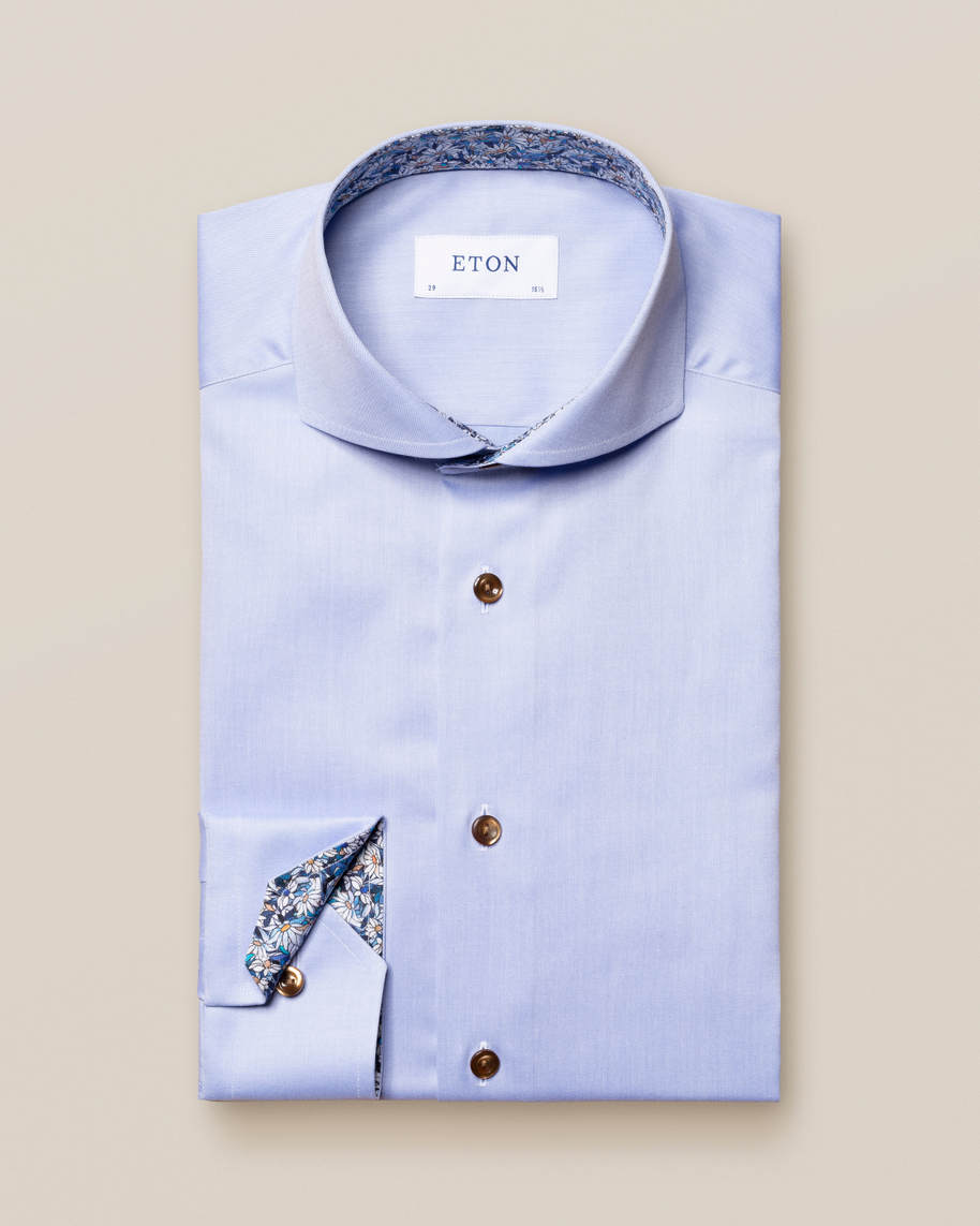 Blue Signature Twill Details Shirt - image 1