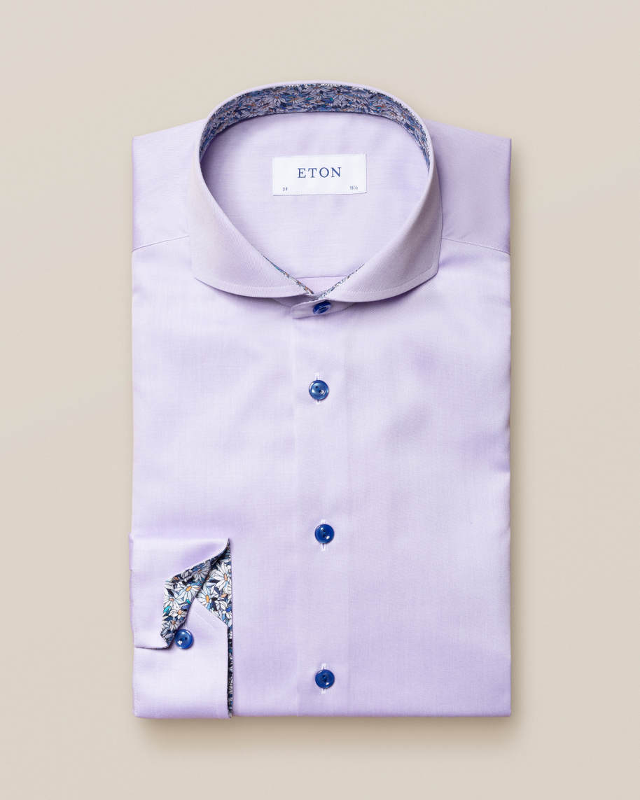Purple Signature Twill Details Shirt