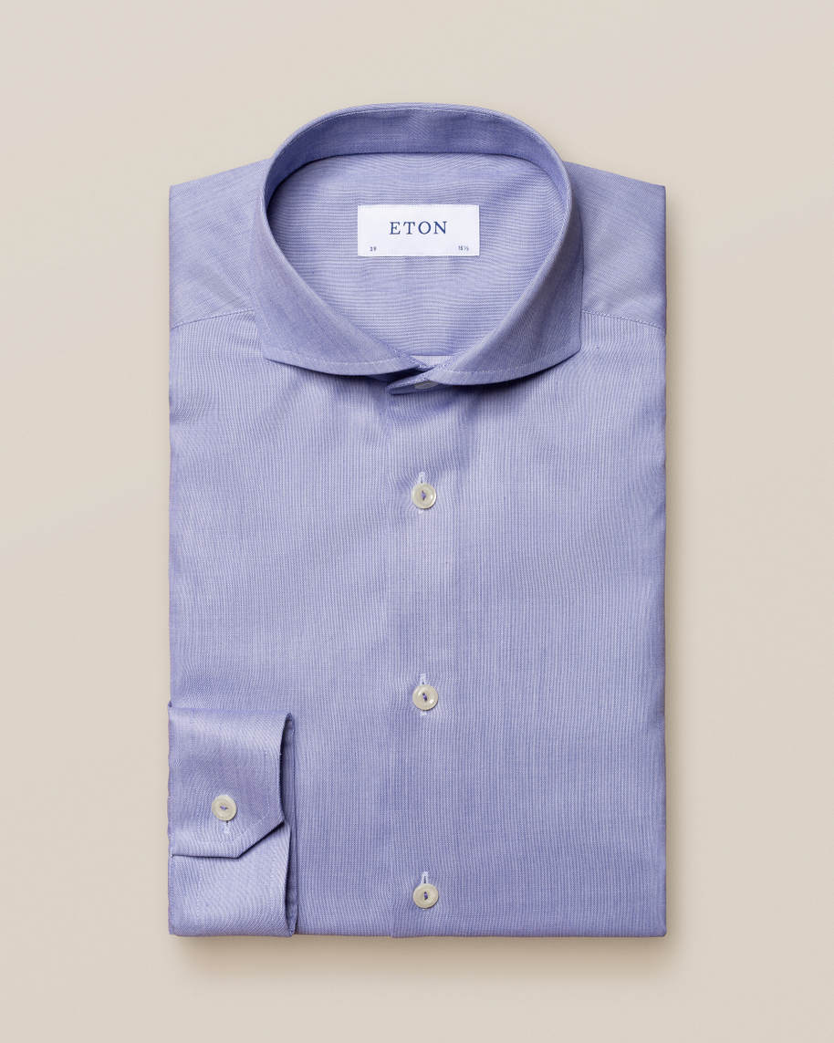 Blue Signature Twill Shirt - image 1