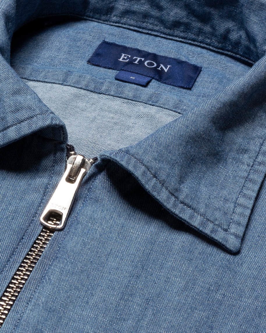 Light Blue Zipper Overshirt