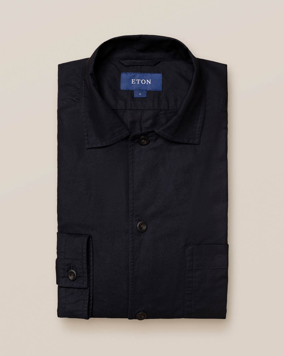 Dark Blue Heavy Oxford Overshirt