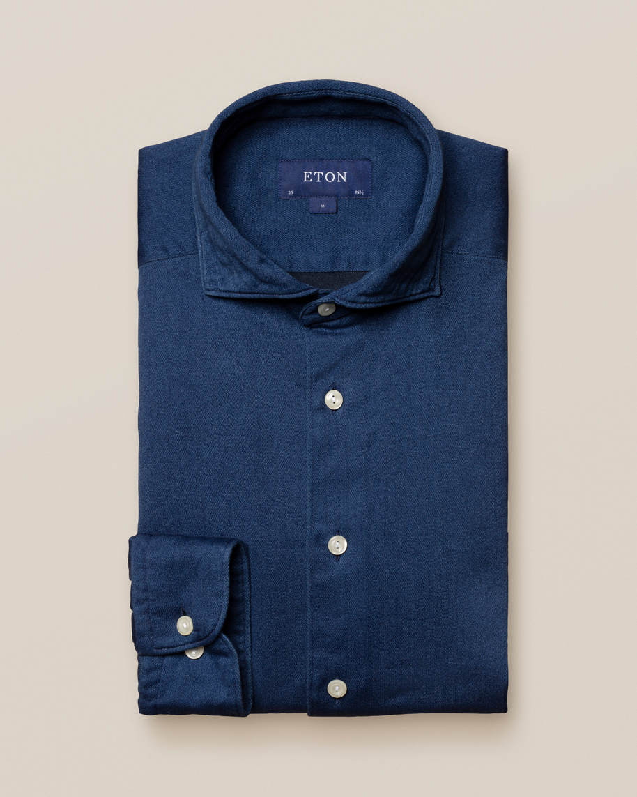 Dark Satin Indigo Shirt
