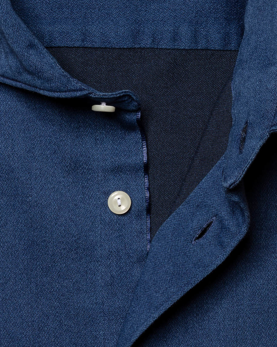 Dark Satin Indigo Shirt - image 3