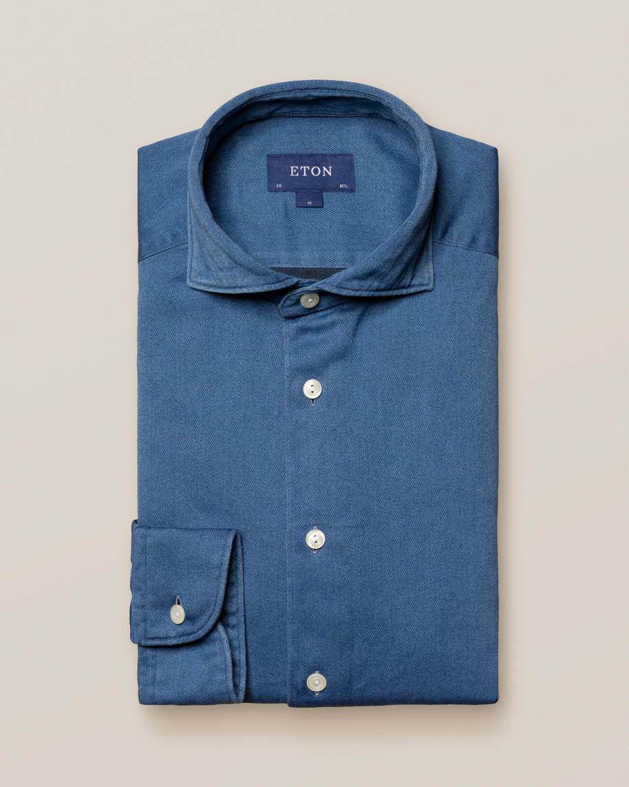 Light Satin Indigo Shirt