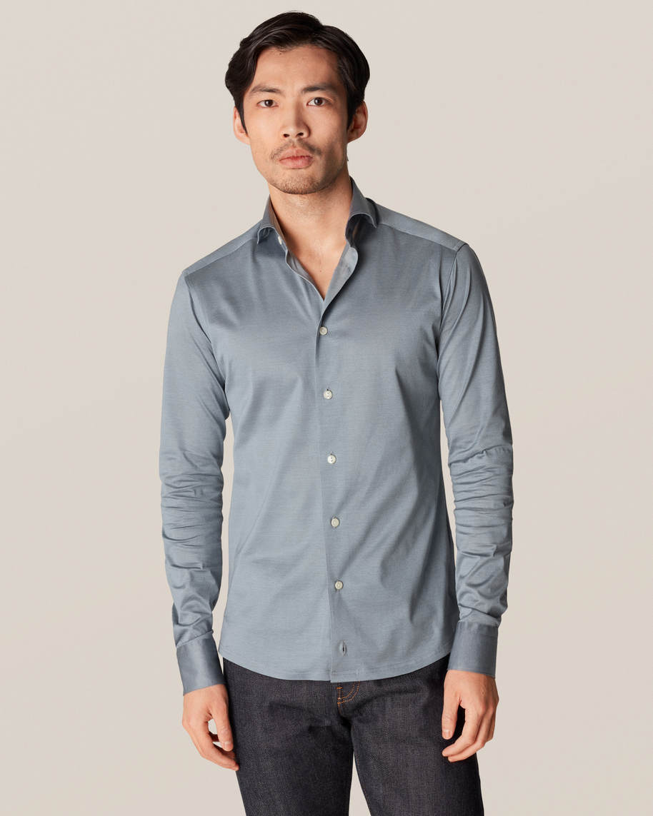 Mid Gray Long-Sleeved Jersey Shirt