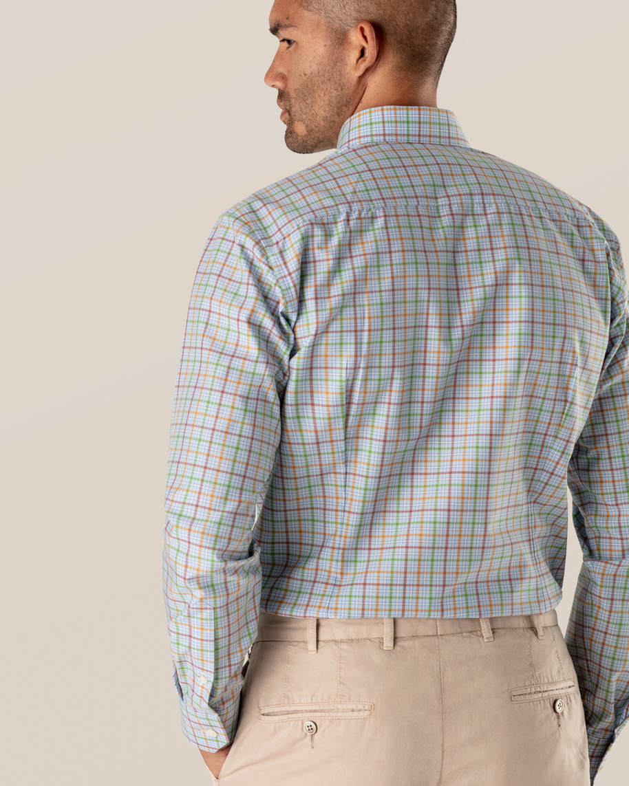 Multi Colored Checks Fine Twill Shirt - image 5