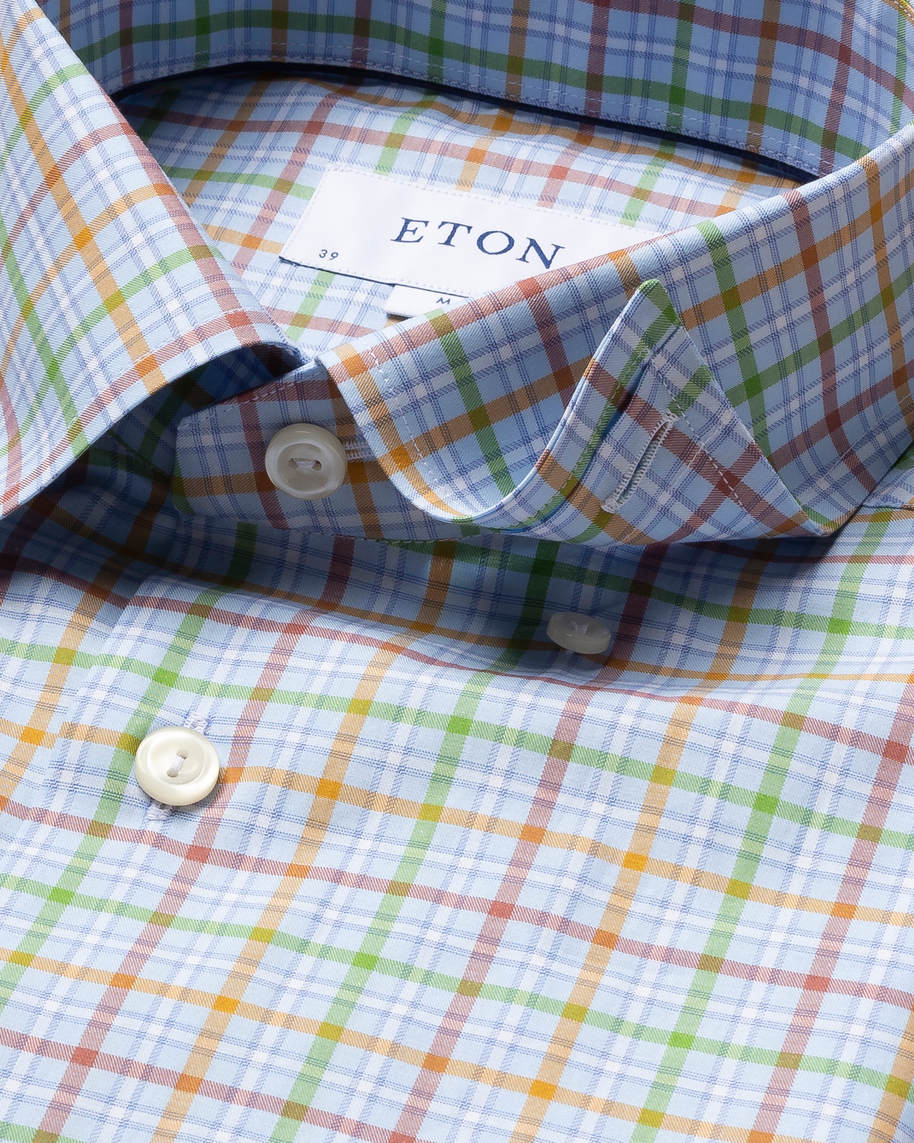 Multi Colored Checks Fine Twill Shirt - image 4