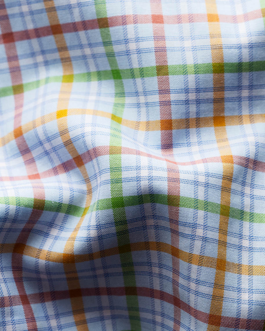 Multi Colored Checks Fine Twill Shirt - image 3