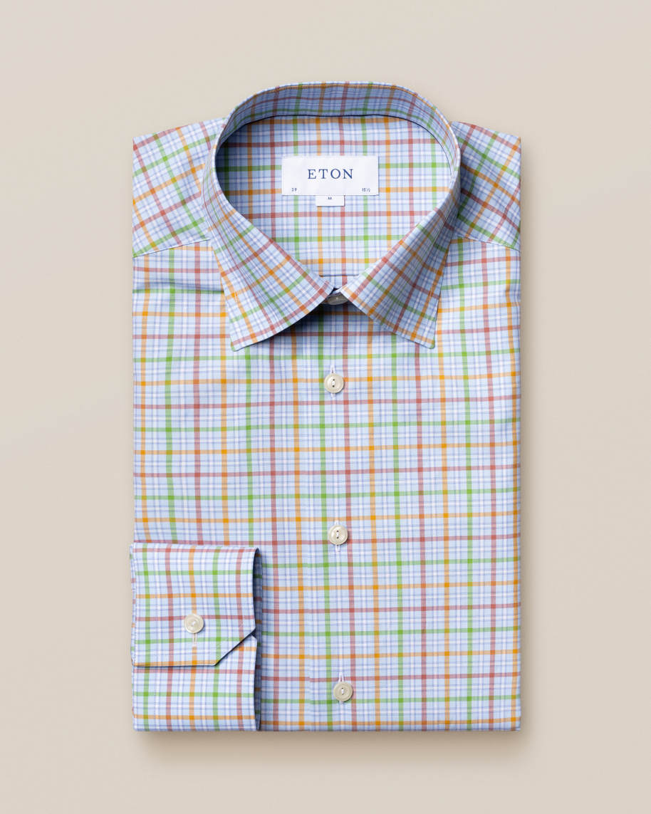 Multi Colored Checks Fine Twill Shirt - image 2