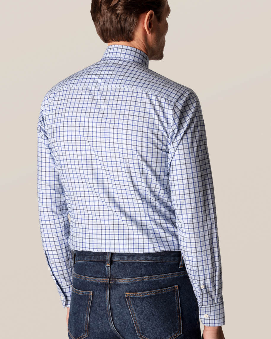 Blue Checks Fine Twill Shirt - image 5