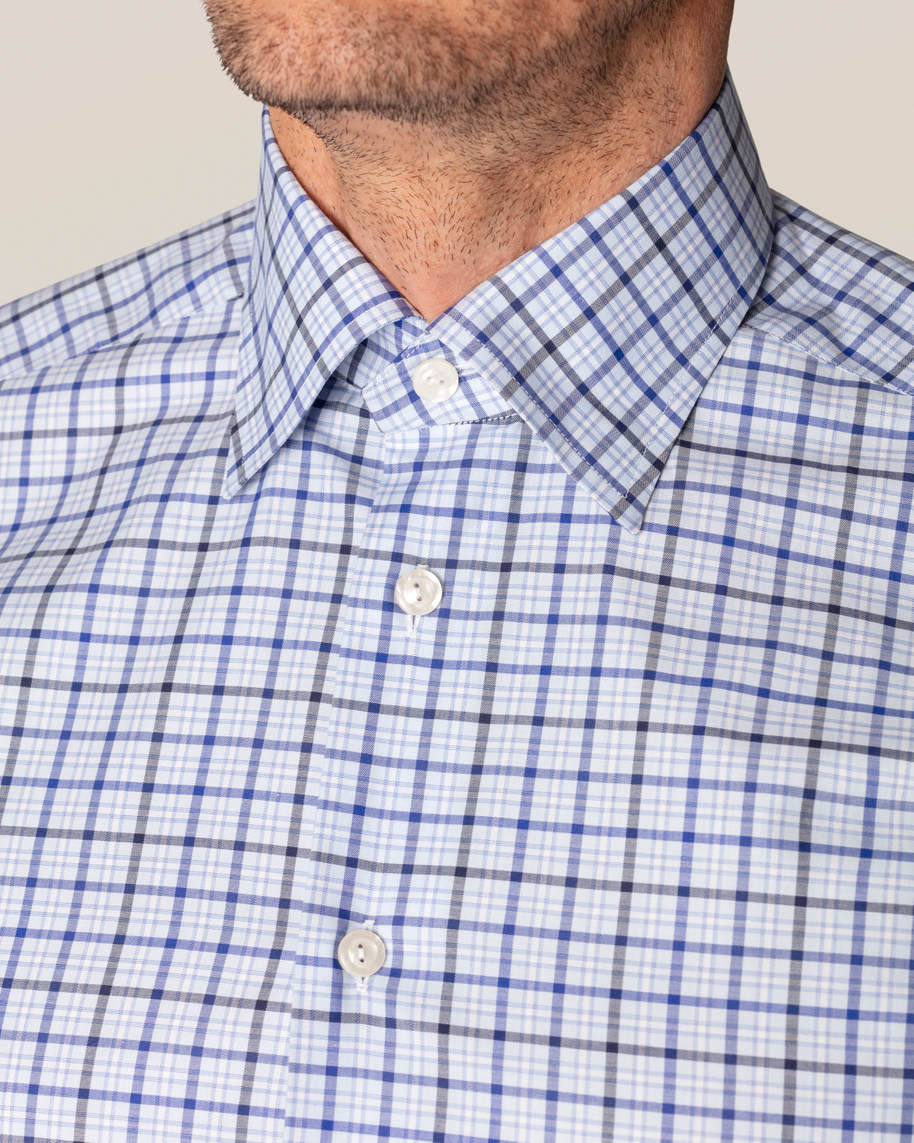 Blue Checks Fine Twill Shirt - image 7