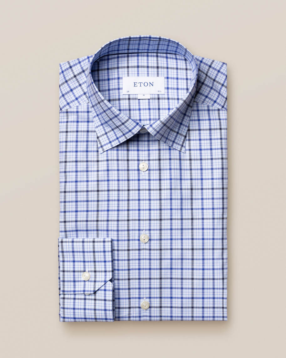 Blue Checks Fine Twill Shirt - image 2