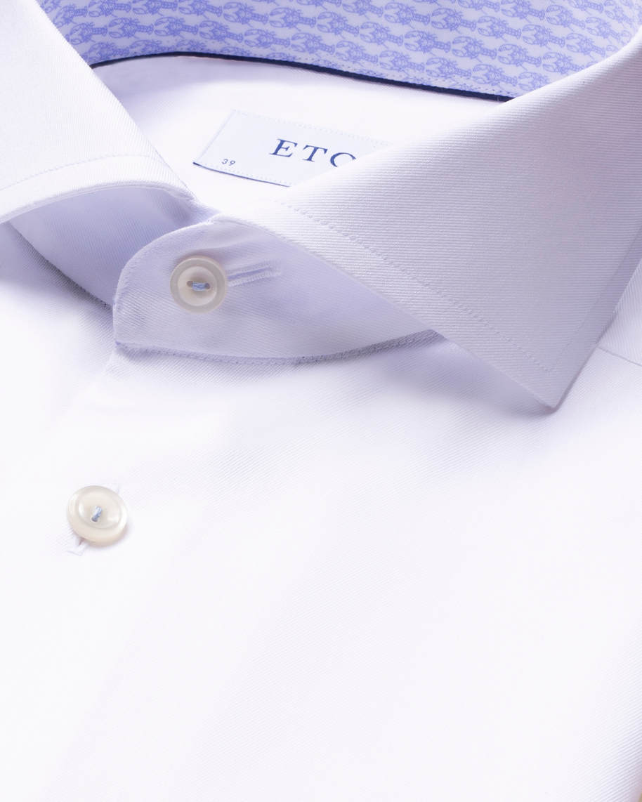 White Signature Twill Details Shirt