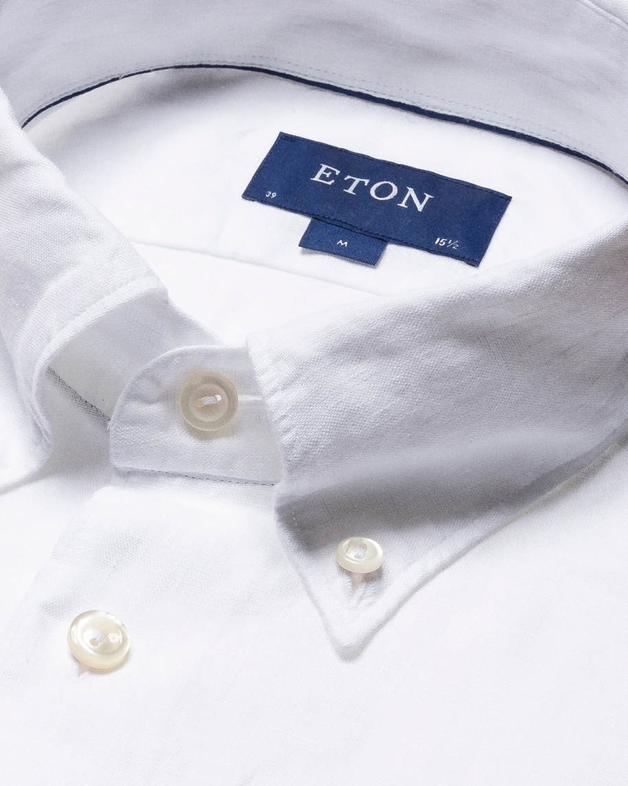 White Linen Shirt  - Short Sleeved