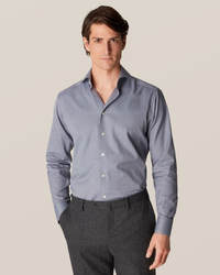 Gray Wrinkle-Free Flannel Shirt - image 1