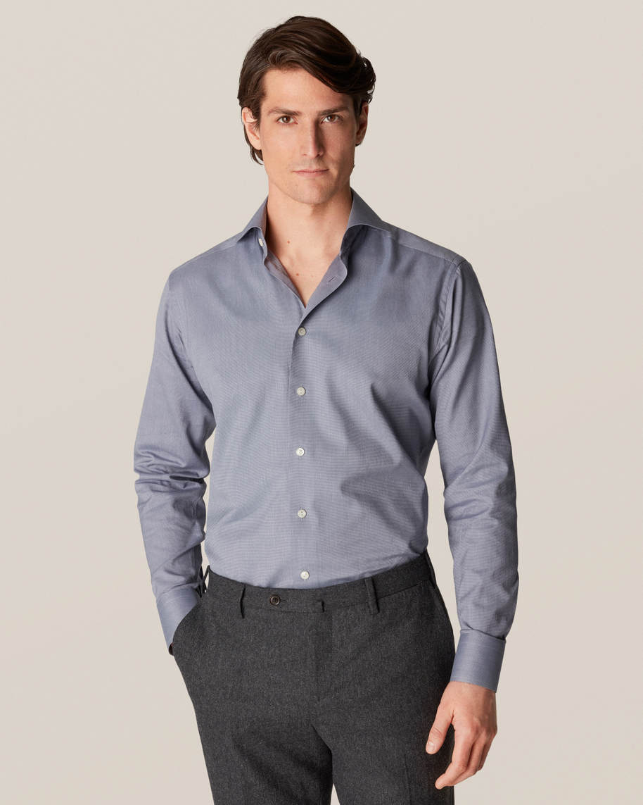 Gray Wrinkle-Free Flannel Shirt