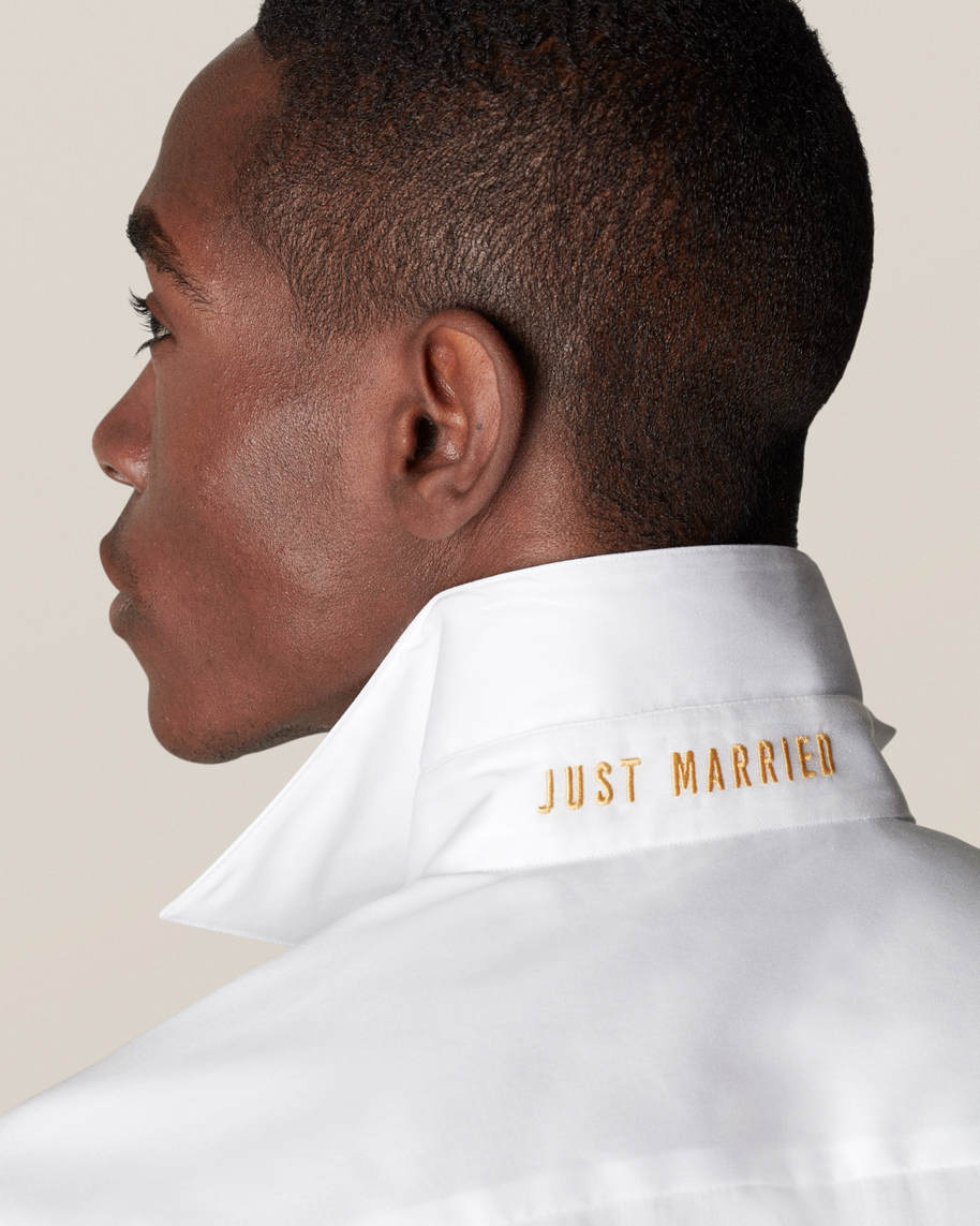 White Just Married Shirt