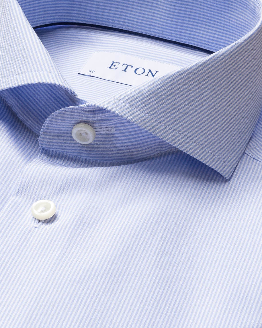 Light Blue Striped Poplin Shirt - image 10