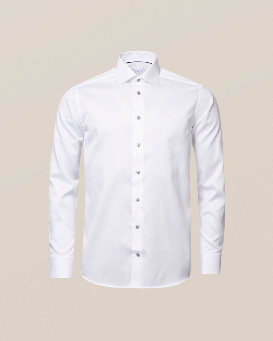 White Twill Shirt – Grey Details - image 5