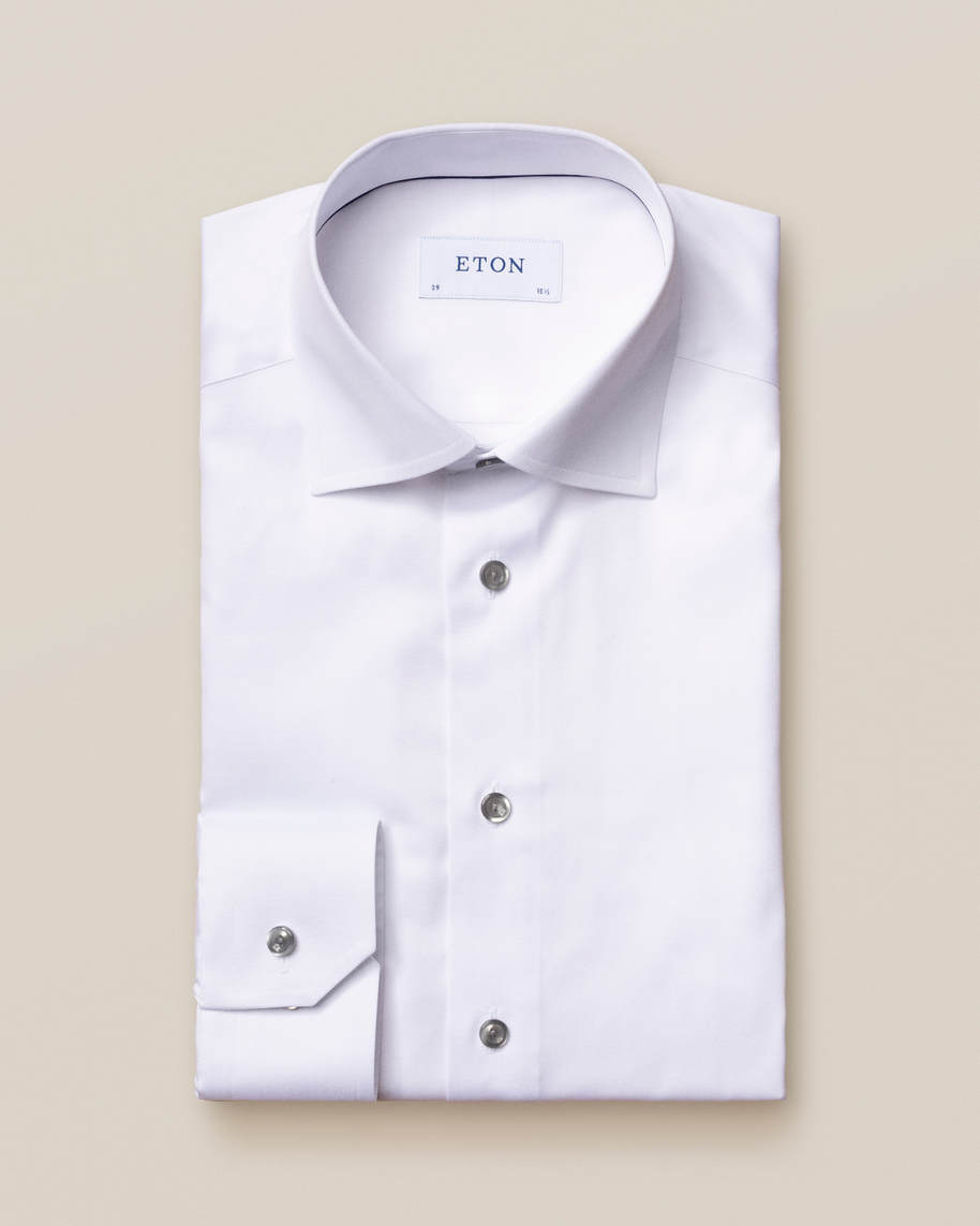 White Twill Shirt – Grey Details - image 1