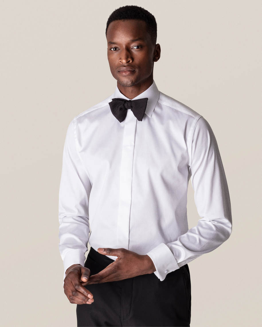 White Twill Evening Shirt - image 1