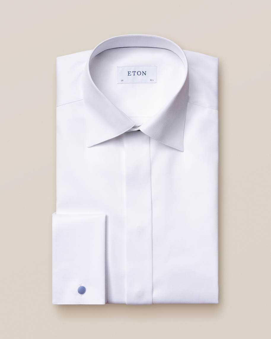 White Twill Evening Shirt - image 3