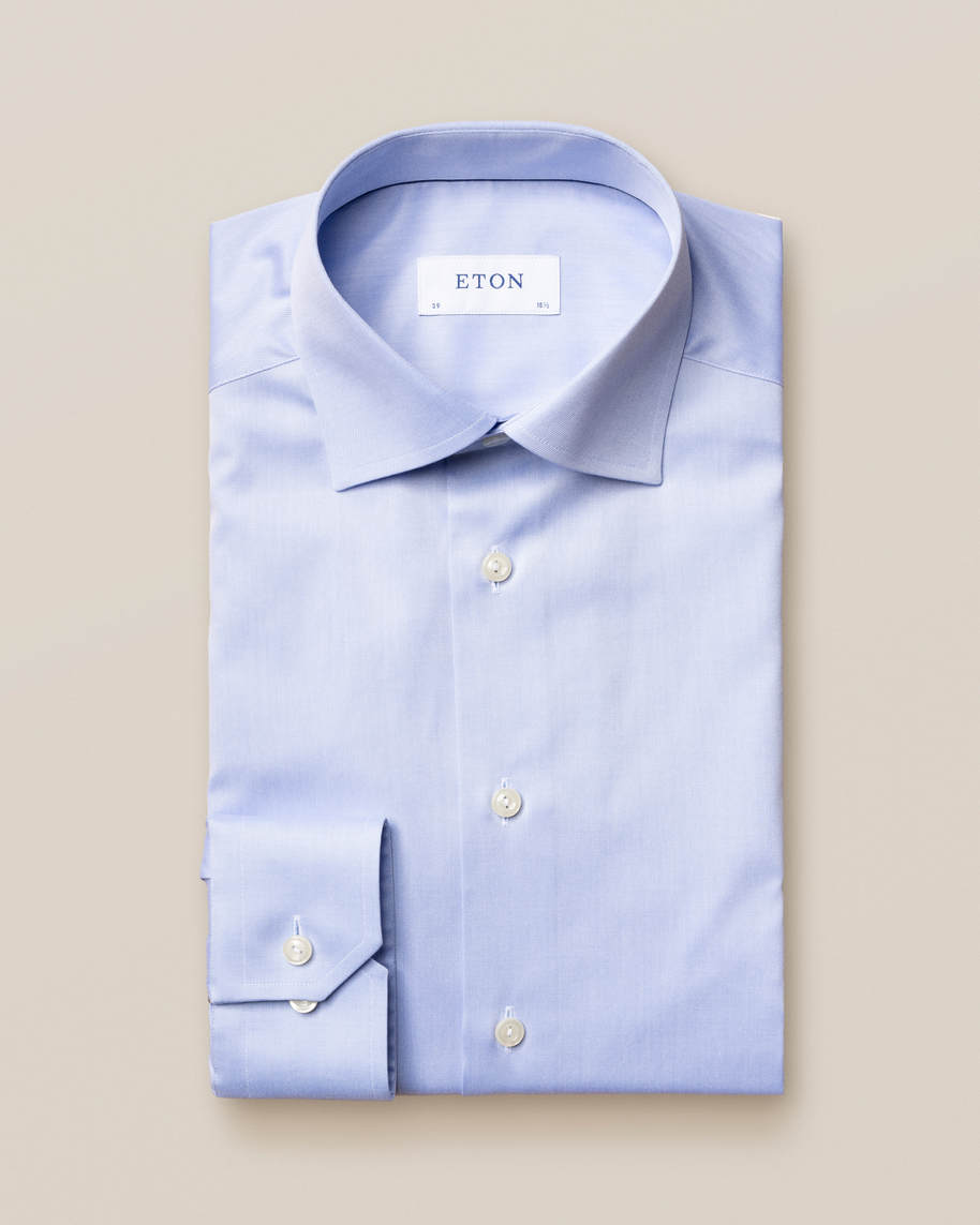 Light Blue Signature Twill Shirt - image 2