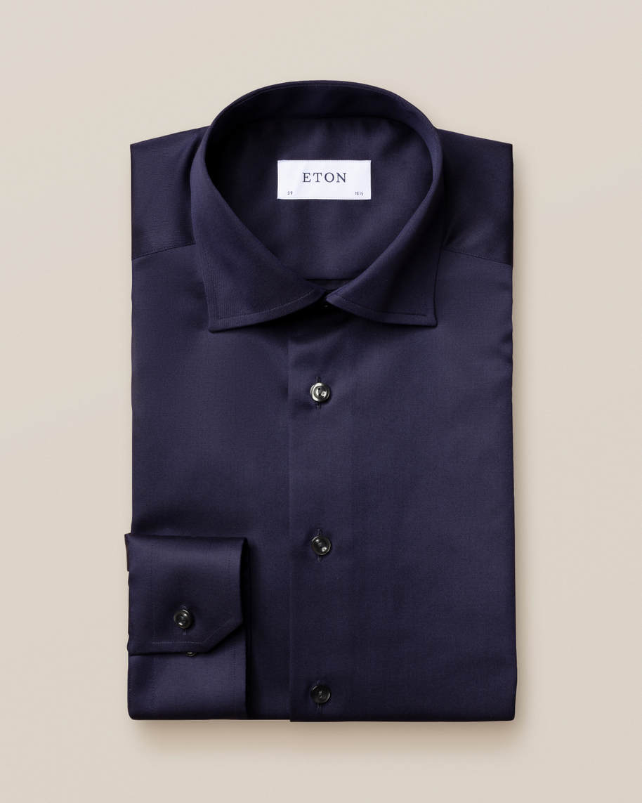 Dark Blue Signature Twill Shirt - image 1