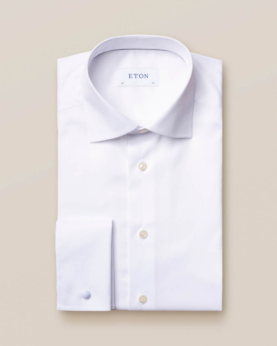 White Signature Twill Shirt – French Cuffs - image 2