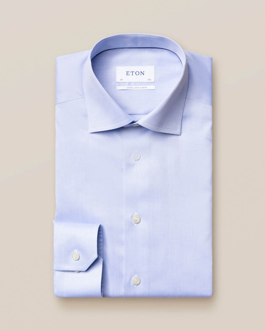Light Blue Signature Twill Shirt – Extra Long Sleeves - image 1