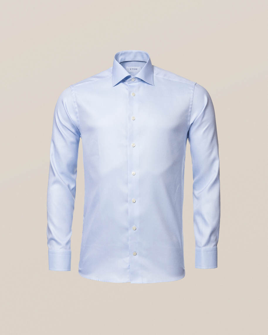 Light Blue Textured Twill Shirt - image 4