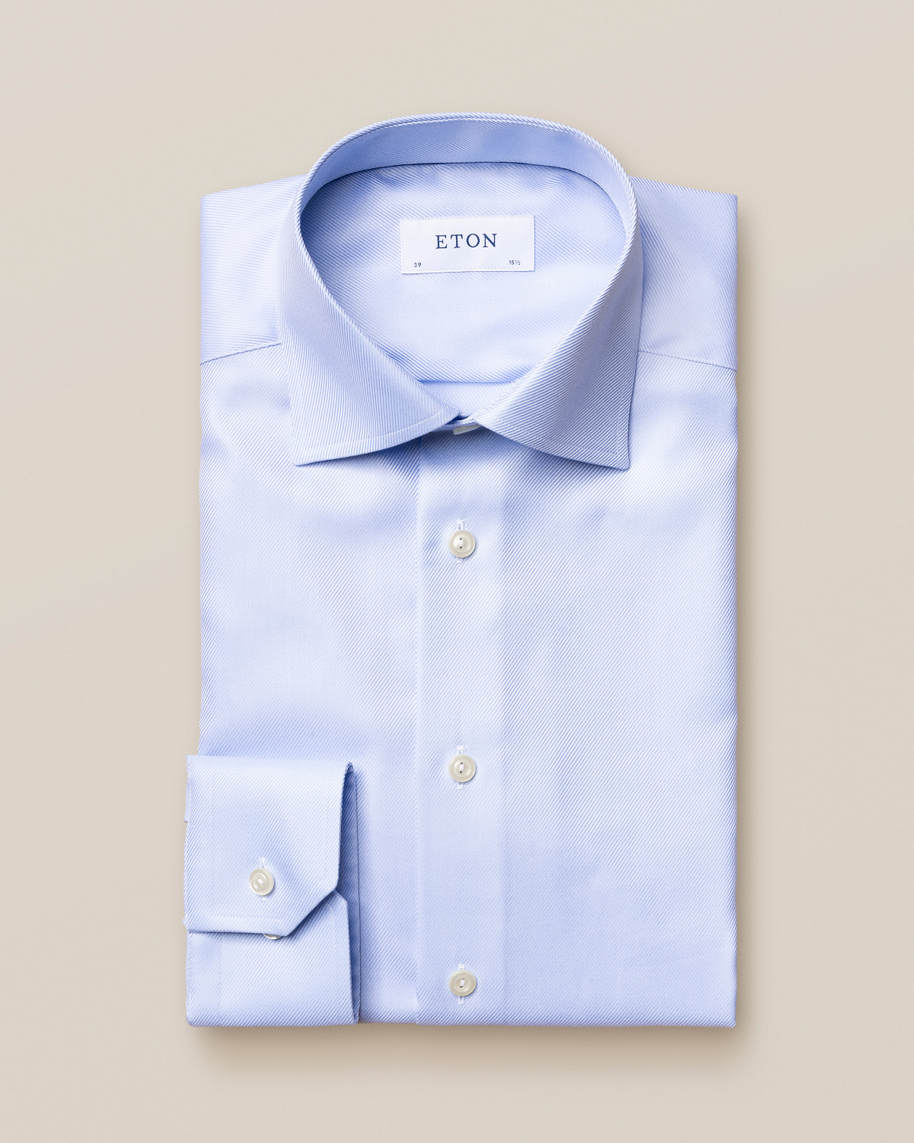 Light Blue Textured Twill Shirt - image 1